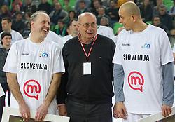 Dusan Hauptman, Ivo Daneu in Boris Gorenc na Tekmi Legend na Dnevu slovenske moske kosarke 2010, on January 2, 2011 in Arena Stozice, Ljubljana, Slovenia. (Photo by Vid Ponikvar / Sportida.com)