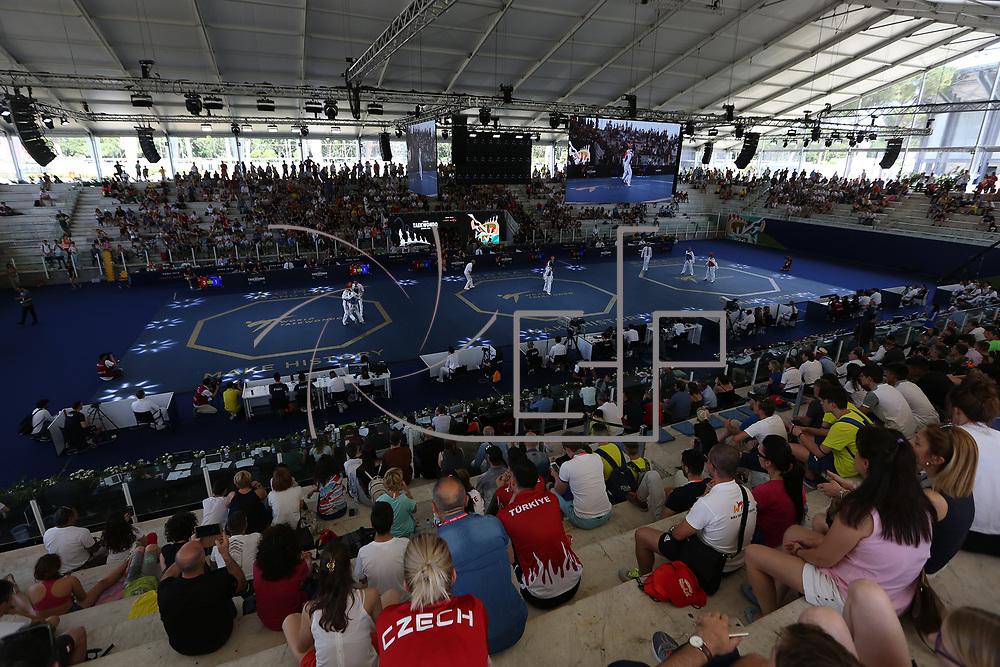 Roma 02/06/2018 Stadio Pietrangeli<br /> World Taekwondo Gran Prix<br /> Panoramica dello stadio Pietrangeli coperto per l'avvenimento