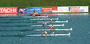 Munich, GERMANY, CZE M2- . Bow  Jakub MAKOVICKA and Vaclav CHULUPA. At the start, during the FISA World Cup at the Munich Olympic Rowing Course, Thur's.  08.05.2008  [Mandatory Credit Peter Spurrier/ Intersport Images] Rowing Course, Olympic Regatta Rowing Course, Munich, GERMANY