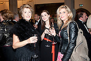 MAUREEN LIPMAN; LAURIE NUNN;; IMOGEN STUBBS;  , Man Booker prize 2011. Guildhall. London. 18 October 2011. <br /> <br />  , -DO NOT ARCHIVE-© Copyright Photograph by Dafydd Jones. 248 Clapham Rd. London SW9 0PZ. Tel 0207 820 0771. www.dafjones.com.
