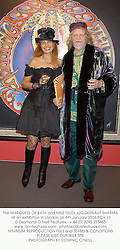 The MARQUESS OF BATH and MISS TRUDI JUGGERNAUT-SHARMA at an exhibition in London on 6th January 2003.	PGH 10