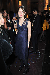 CHARLOTTE CASIRAGHI at the Liberatum Dinner hosted by Ella Krasner and Pablo Ganguli in honour of Sir V S Naipaul at The Landau at The Langham, Portland Place, London on 23rd November 2010.