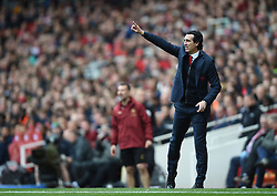 Arsenal manager Unai Emery on the touchline