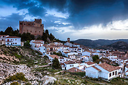 Impressive spanish castle above a village