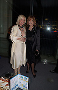 Sally Greene and Joan Collins, Fundraising party with airline theme in aid of the Old Vic and to celebrate the appointment of Kevin Spacey as artistic director.  <br />