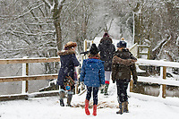 People out enjoying the snow during the first national lockdown of 2021 Earlswood Lakes  Warwickshire, England,  24th jan 2021 photo by Chris Wynne