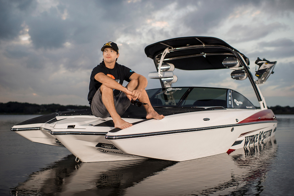 Chad Sharpe shot for Malibu Boats at his home lake in Orlando, Florida.