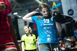Ljepoja Natasa of RK Krim Mercator during handball match between RK Krim Mercator and Brest Bretagne Handball in 2nd main round of Women's DELO EHF Champions League 2019/20, on February 2, 2020 in Kodeljevo, Ljubljana,  Slovenia. Photo Grega Valancic / Sportida