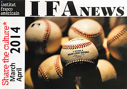 Baseballs, French American Institute Program Cover, 2014.