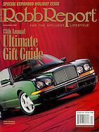 Magazine Cover - Robb report Green Bentley
