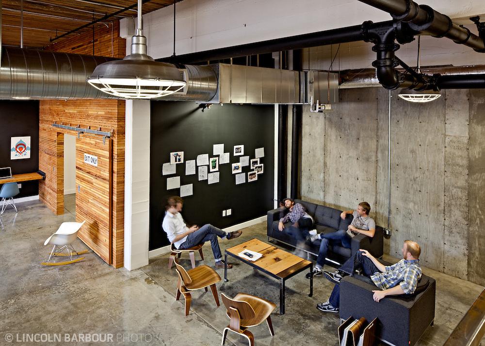 Interior of Parliament's Design Studio in Portland, OR