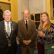 08.12.2016                   <br /> Pictured at the launch of the Shannon Airport Christmas Racing Festival at Hunt Museum were, Mayor of the Metropolitan District of Limerick Cllr. Michael Hourigan, Paddy O'Callaghan, Limerick Racecourse and Orla Clancy, Shannon Group. Picture: Alan Place
