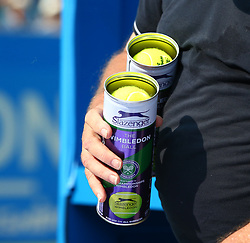 June 19, 2017 - London, United Kingdom - New Balls during Round One match on the first day of the ATP Aegon Championships at the Queen's Club in west London on June 19, 2017  (Credit Image: © Kieran Galvin/NurPhoto via ZUMA Press)