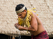 A presentation of Samoan culture. The Polynesian Cultural Center (PCC) is a major theme park and living museum, in Laie on the northeast coast (Windward Side) of the island of Oahu, Hawaii, USA. The PCC first opened in 1963 as a way for students at the adjacent Church College of Hawaii (now Brigham Young University Hawaii) to earn money for their education and as a means to preserve and portray the cultures of the people of Polynesia. Performers demonstrate Polynesian arts and crafts within simulated tropical villages, covering Hawaii, Aotearoa (New Zealand), Fiji, Samoa, Tahiti, Tonga and the Marquesas Islands. The PCC is run by the Church of Jesus Christ of Latter-day Saints (LDS Church). For this photo's licensing options, please inquire.