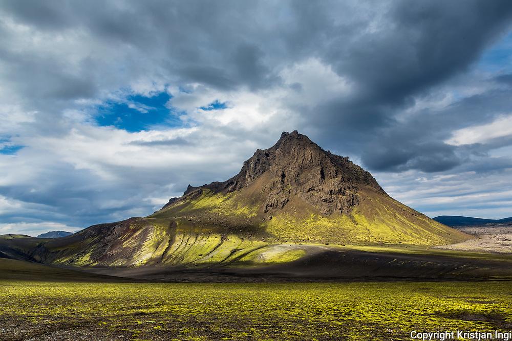 The craggy peak of Krakatindur