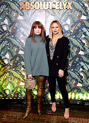 Nicola Roberts (left) and Kimberley Walsh attending the Dita Von Teese and The Copper Coupe event presented by Absolut Elyx at the Box, London.