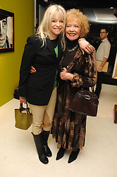 Left to right, JO WOOD and her mother RACHEL KARSLAKE at an exhibition of artist Paul Karslake's work entitled Ideas & Idols, held at Scream, 34 Bruton Street, London W1 on 21st February 2008.<br /><br />NON EXCLUSIVE - WORLD RIGHTS