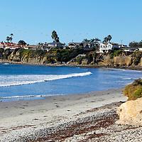 USA, California, San Diego. San Diego Coast and pelican formation.