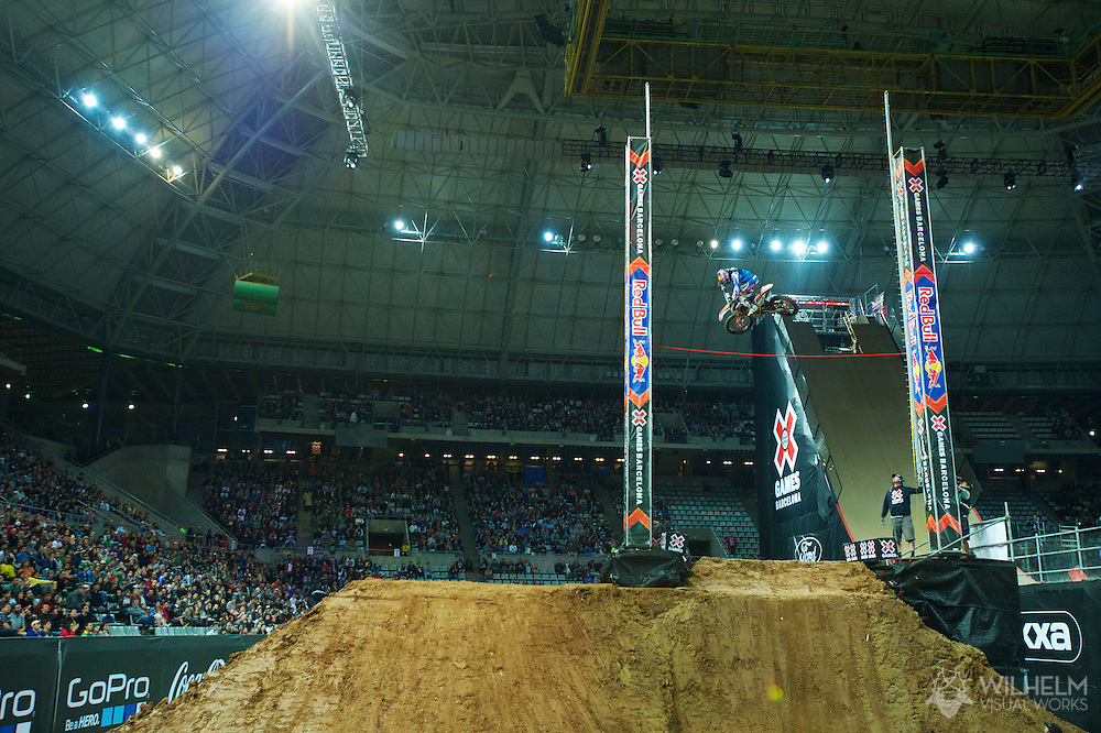 Ronnie Renner during Moto X Step Up Finals at the 2013 X Games Barcelona in Barcelona, Spain. ©Brett Wilhelm/ESPN