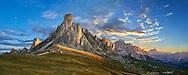 Nuvolau  mountain above the Giau Pass (Passo di Giau), Colle Santa Lucia, Dolomites, Belluno, Italy
