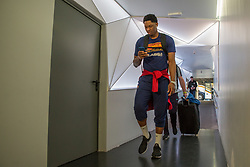 February 17, 2019 - Madrid, Madrid, Spain - Kevin Seraphin during FC Barcelona Lassa victory over Real Madrid (93 - 94) in Copa del Rey 2019 game (final) celebrated in Madrid (Spain) at Wizink Center. February 17th 2019. (Credit Image: © Juan Carlos Garcia Mate/Pacific Press via ZUMA Wire)