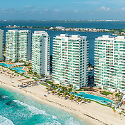 Aerial view of the Bay View Grand Complex. Cancun, Mexico.