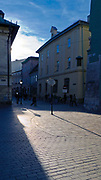 Ulica Stolarska, widok z Rynku Głównego w Krakowie, Polska<br /> Stolarska Street, view from the Market Square in Krakow, Poland