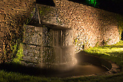 Illumination of the cascade from the main lake at Hestercombe Gardens, Cheddon Fitzpaine, Somerset, England. Part of the Illumina Project by Ulf Pedersen.