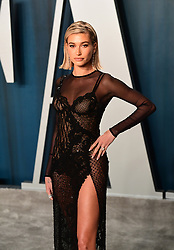 Hailey Baldwin Bieber attending the Vanity Fair Oscar Party held at the Wallis Annenberg Center for the Performing Arts in Beverly Hills, Los Angeles, California, USA.
