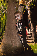 A young boy dressed in a skeleton costume rests during the Day of the Dead festival November 1, 2016 in San Miguel de Allende, Guanajuato, Mexico. The week-long celebration is a time when Mexicans welcome the dead back to earth for a visit and celebrate life.