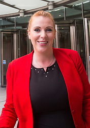 London, July 9th 2017. Labour's Shadow Education Secretary Angela Rayner leaves the BBC's Broadcasting House in London following an appearance on the Andrew Marr Show.