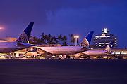 Honolulu Airport, Oahu, Hawaii, airplane
