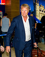 18/08/15<br /> GLASGOW AIRPORT<br /> Malmo manager Age Hareide arrives in Glasgow.