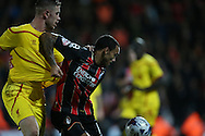 AFC Bournemouth striker Callum Wilson during the Capital One Cup match between Bournemouth and Liverpool at the Goldsands Stadium, Bournemouth, England on 17 December 2014.