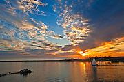 Sailing in Corona Del Mar at Sunset