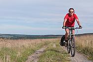 Cyclist on Shatton Moor
