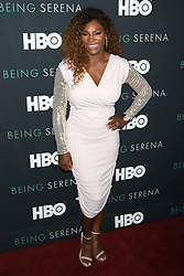 """Serena Williams attends the HBO premiere of """"Being Serena"""" at the Time Warner Center in New York."""