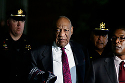 Bill Cosby departs after the first day of jury deliberations on day 13 of the actor and comedian's sexual assault trial at the Montgomery County Court House, in Norristown, PA, on April 25, 2018.