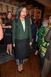 SARAH-JANE CRAWFORD at a party to celebrate the 21st anniversary of The Roar Group hosted by Jonathan Shalit held at Avenue, 9 St.James's Street, London on 21st September 2015.