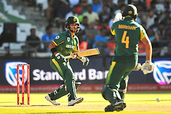 Cape Town-180207 South African betsman JP Duminy and Aiden Markram at the crease betting against India  in a ODI game at Newlands stadium .photograph:Phando Jikelo/African News Agency(ANA)