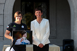 Tina Trstenjak and Maja Makovec Brencic during reception of Slovenian Olympic Team at Vila Podroznik when they came back from Rio de Janeiro after Summer Olympic games 2016, on August 26, 2016 in Ljubljana, Slovenia. Photo by Matic Klansek Velej / Sportida
