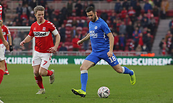 Daniel Lafferty of Peterborough United in action on his debut against Grant Leadbitter of Middlesbrough - Mandatory by-line: Joe Dent/JMP - 05/01/2019 - FOOTBALL - Riverside Stadium - Middlesbrough, England - Middlesbrough v Peterborough United - Emirates FA Cup third round proper