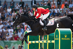 Beezie Madden, (USA), Cortes C - Show Jumping Final Four - Alltech FEI World Equestrian Games™ 2014 - Normandy, France.<br /> © Hippo Foto Team - Jon Stroud<br /> 07-09-14