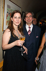 MR & MRS DIMITRI HORNE at a dinner hosted by Stratis & Maria Hatzistefanis at Annabel's, Berkeley Square, London on 24th March 2006 following the christening of their son earlier in the day.<br /><br />NON EXCLUSIVE - WORLD RIGHTS
