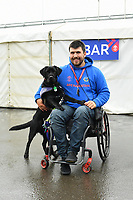 Cricket - 2019 ICC Cricket World Cup - Group Stage: Bangladesh vs. Sri Lanka<br /> <br /> A Support Dog with his owner, at County Ground, Bristol.<br /> <br /> COLORSPORT/ASHLEY WESTERN