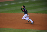 The Seattle Mariners defeated the Cleveland Indians 7-2 on April 29, 2008 at Progressive Field in Cleveland..Grady Sizemore of Cleveland runs to third base.