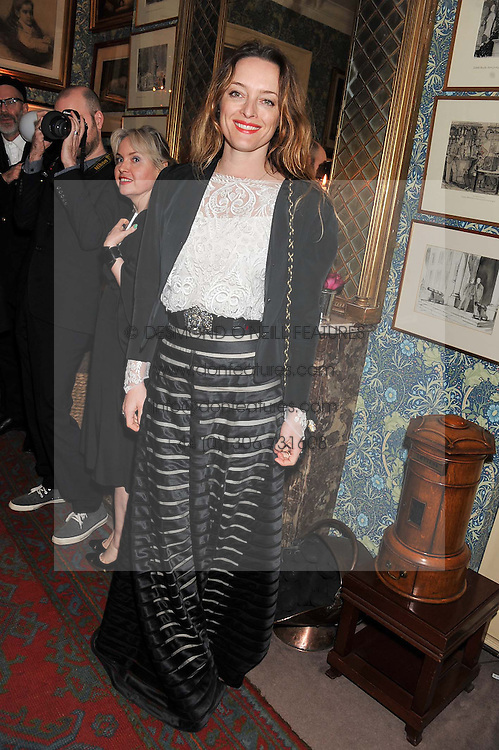 ALICE TEMPERLEY at a party hosted by Justine Picardie, Editor-in-Chief of Harper's Bazaar UK and Glenda Bailey, Editor-in-Chief of Harper's Bazaar US to celebrate the end of London Fashion Week and the biggest-ever March issues of Harper's Bazaar, held at Mark's Club, Charles Street, London on 19th February 2013.