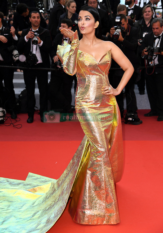 Aishwarya Rai attending A Hidden Life Premiere, during the 72nd Cannes Film Festival. Photo credit should read: Doug Peters/EMPICS