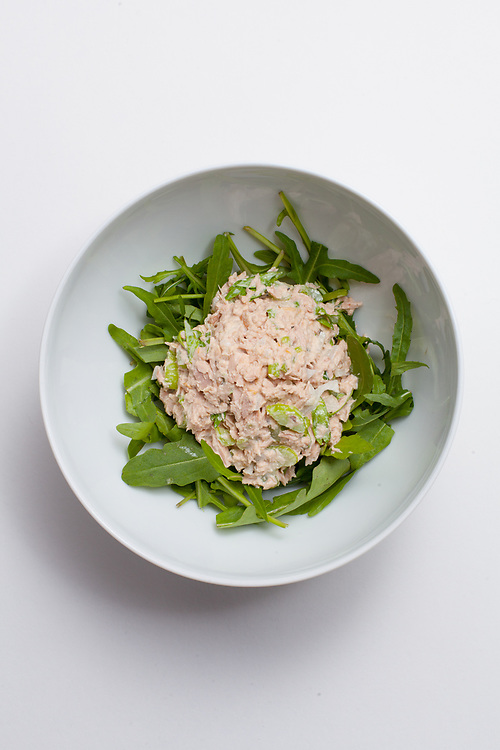 Tuna Salad over Arugula from the fridge (m€) - OFF - Thanksgiving