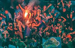 03.05.2018, Red Bull Arena, Salzburg, AUT, UEFA EL, FC Salzburg vs Olympique Marseille, Halbfinale, Rueckspiel, im Bild Jubel bei den Fans von Marseille nach dem 1:2 Treffer durch Rolando (Olympique Marseille) // during the UEFA Europa League Semifinal, 2nd Leg Match between FC Salzburg and Olympique Marseille at the Red Bull Arena in Salzburg, Austria on 2018/05/03. EXPA Pictures © 2018, PhotoCredit: EXPA/ JFK